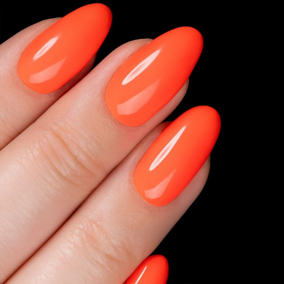 554 LOUD MANDARINE Semilac Soak Off Gel / Hybrid Nail Polish - SUPER COVER Collection - SemilacUSA