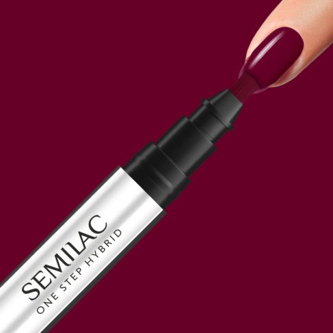 580 CRIMSON Semilac STEP ONE Hybrid / Gel Polish Marker - SemilacUSA