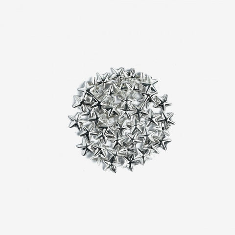 761 BIG SILVER STARS Semilac Nail Art Decorations 50 pcs - SemilacUSA