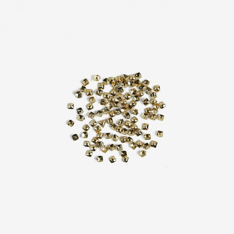 762 SMALL GOLD SQUARE  Semilac Nail Art Decorations 100 pcs - SemilacUSA