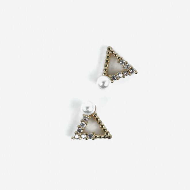 784 GOLD TRIANGLES  Semilac Nail Art Decorations 2 pcs - SemilacUSA