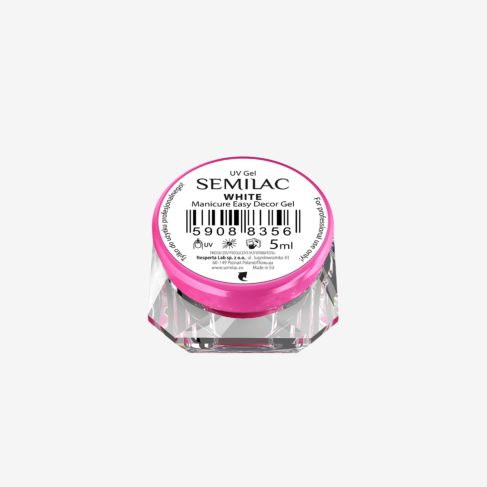 Semilac EASY DECOR GEL WHITE 5ml