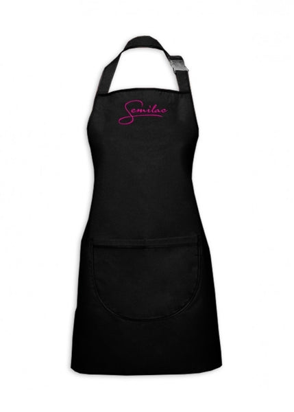 Black Apron With White Logo SEMILAC - SemilacUSA