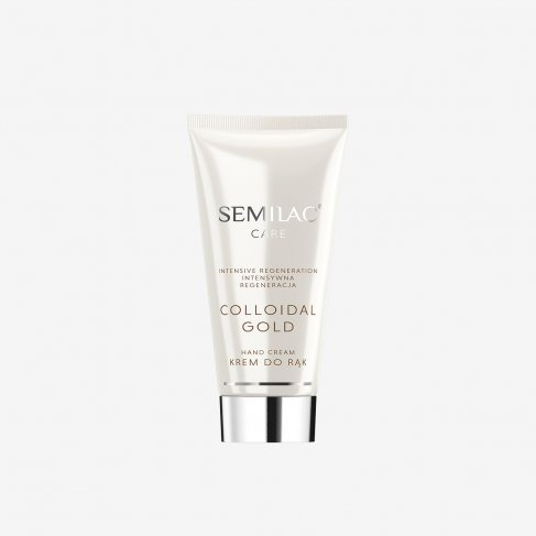 Semilac Hand Cream COLLOIDAL GOLD Intensive Regeneration 50 ml - SemilacUSA