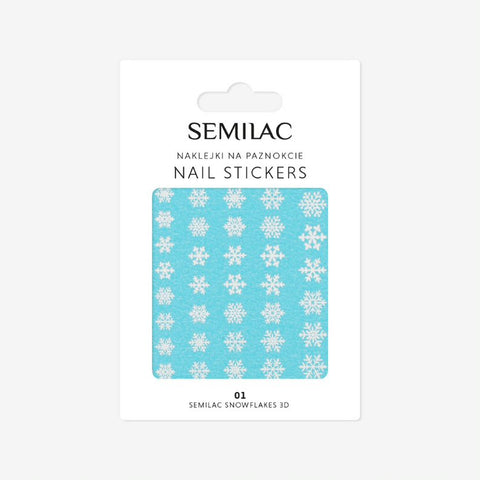 01 SNOWFLAKES 3D Semilac Nail Stickers