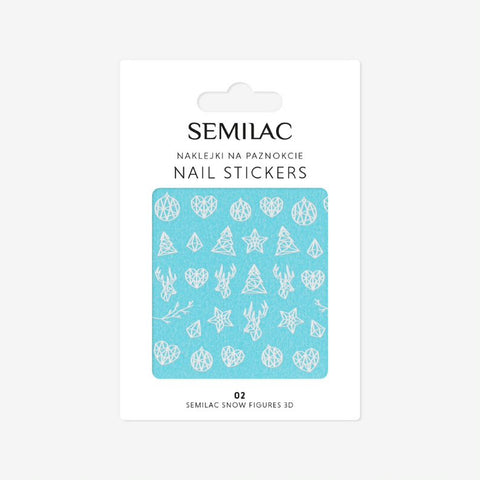 02 SNOW FIGURES 3D Semilac Nail Stickers