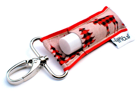 Buffalo Plaid Reindeer LippyClip® Lip Balm Holder