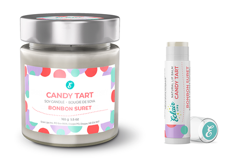 Candy Tart Candle + Lip Balm Gift Set