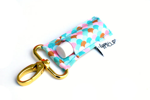 Pink + Turquoise Mermaid LippyClip® Lip Balm Holder