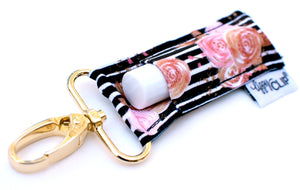 Black Blush + Stripe LippyClip® Lip Balm Holder