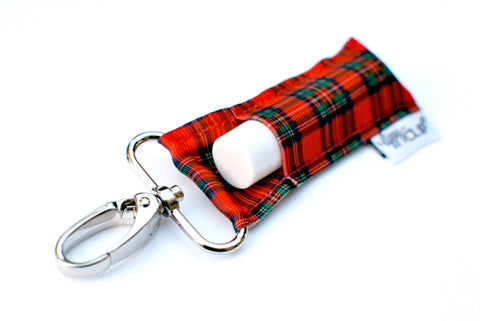 Classic Christmas Plaid LippyClip® Lip Balm Holder