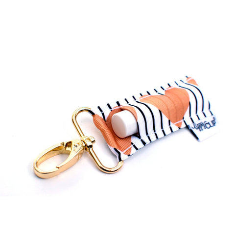 LippyClip® Lip Balm Holder - Heart + Stripe
