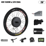 PASION E BIKE Cassette 145mm Conversion Set For Electric Bike Motor Wheel 1500W Electric Bike Wheel Motor Kit or 52V 17ah 20ah 30ah Electric Bike Battery