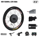 48V 1500W Electric Bike cst Wheel Motor Battery 52V 12.8/17/20/30 ah Electric Bike Conversion Kit With Battery Electric Bicycle Motor Kit