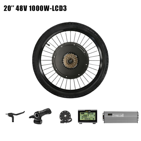 "Passion Ebike 48V 1000W Bicicleta Electric Bicycle conversion kit Bike Rear Hub wheel motor for  20"" 24"" 26"" 28"" 29"" 700C Wheel Motor & LCD3"