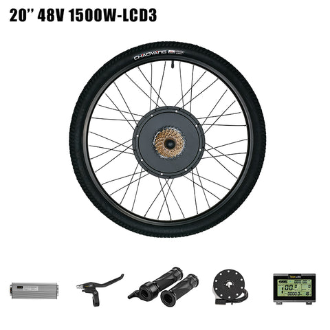 "Pasion Ebike Electric Bike Conversion Kit 48V 1500W Rear Motor Wheel for 26"" Bicycle Electric Conversion Kit"