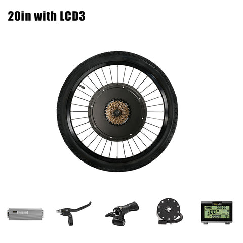 1000w Front Motor Wheel Electric Bike Kit 48V E Bike Set Electric Wheel Motor Electric Bike Conversion Kit Front Hub Motor