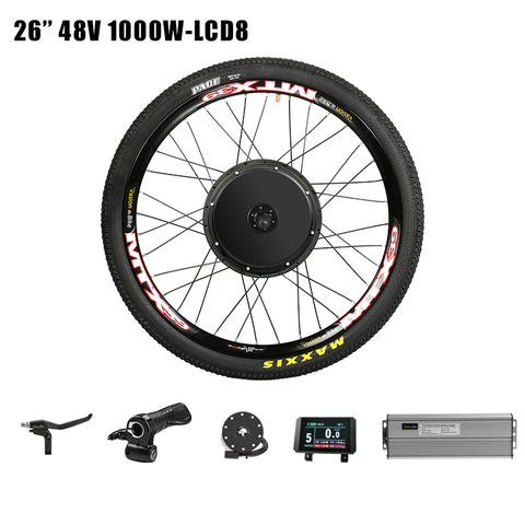 48V 1000W Cassette Electric Bike Conversion Kit Rear Wheel Motor Kit MTB CST Electric Bicycle Hub Motor E Bike Kit
