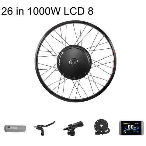 PASION EBIKE Set 48V 1000W Front Motor Wheel Front Electric Wheel Motor Electric Bike Conversion Kit e-Bike Kit V-Brake
