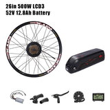 E BIKE Conversion Kit 48V 500W with Bafang Hub Motor Set For Electric Bike Conversion Kit with BAFANG Engine Rear LCD3/8U