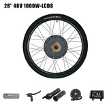 48V 1000W Electric Bike Motor Wheel eBike Conversion Kit 26inch with LCD3 / LCD8 Display Rear Hub Motor