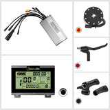 PASION E BIKE DC Sine Wave Waterproof 35A Controller 36/48V 750W Hub Motor Electric Bike Controller KT Controller LCD3/8 Display