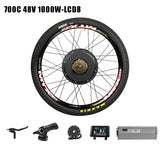 "Passion Ebike 48V 1000W Bicicleta Electric Bicycle conversion kit Bike Rear Hub wheel motor for  20"" 24"" 26"" 28"" 29"" 700C Wheel Motor & LCD8"