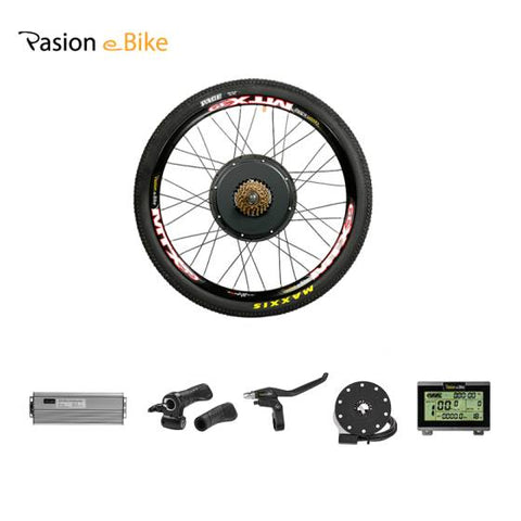 Pasion Ebike Conversion Kit 48V Hub Wheel Motor 1500W Electric Bike Conversion Kit for 20 24 26 27.5 700C 28 29inch  bike Rear Wheel