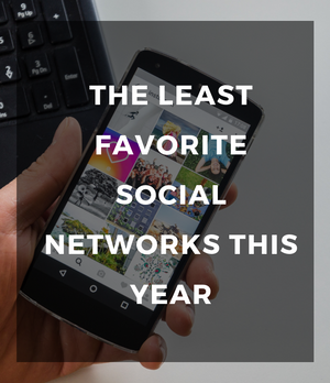 The least favorite social networks this year