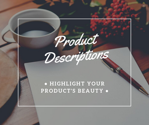 ✍🏻Product Descriptions - NinjaNutz
