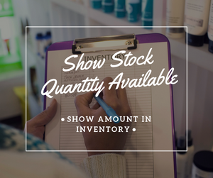 Show Stock Quantity Available - NinjaNutz