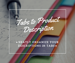 Tabs for Product Description - NinjaNutz