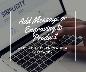 Add Message or Engraving to product - NinjaNutz