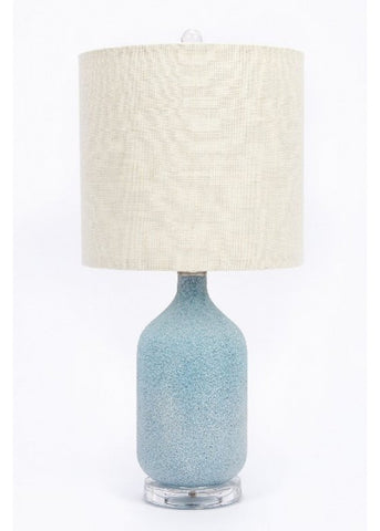 Blue Frosted Glass Table Lamp