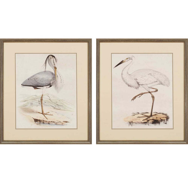 Antique Herons | Set of 2