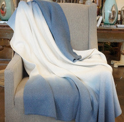 Navy Ombre Throw