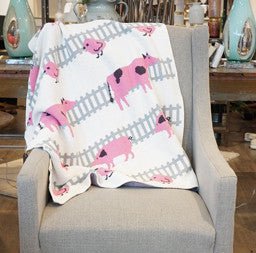 Baby Farm Animals Throw Blanket
