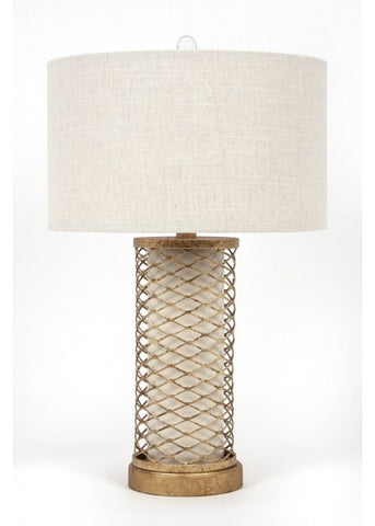 Metallic Base Table Lamp