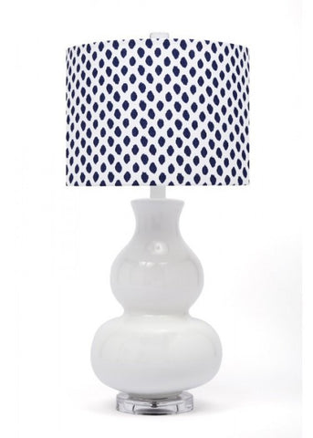 Navy Dot Table Lamp