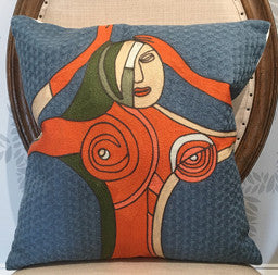 Mod Woman Throw Pillow 18 x 18