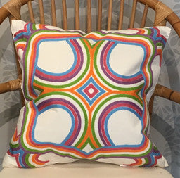 Multi Color Throw Pillow 20 x 20