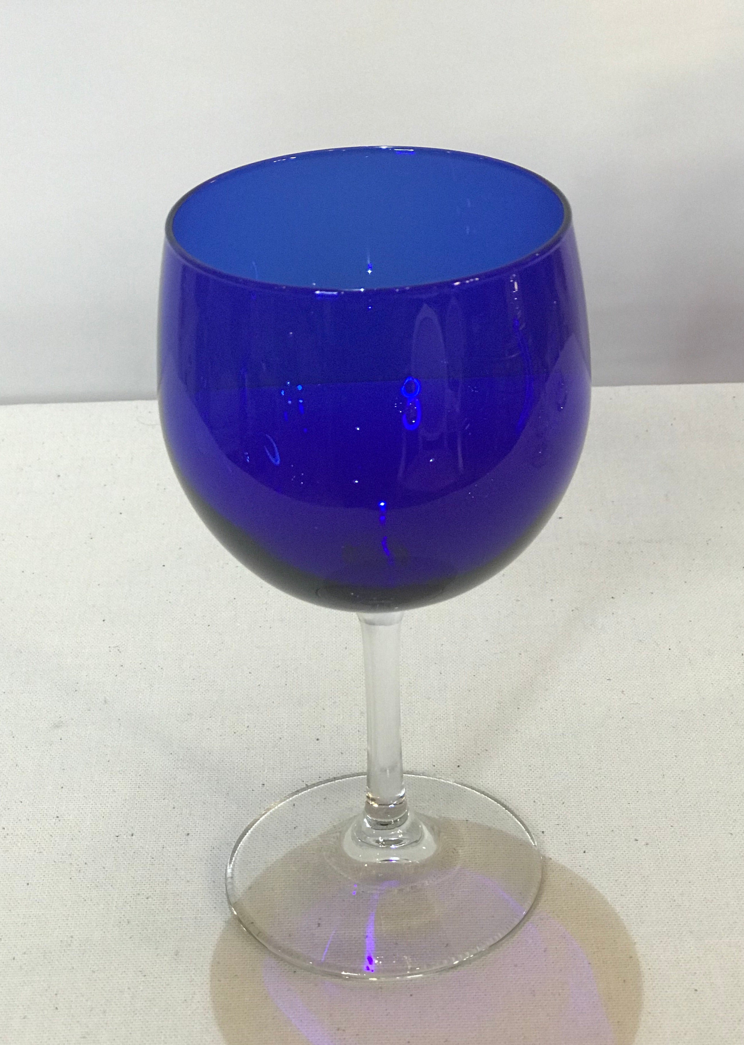 Cobalt Blue Wine Glasses - Set of 4