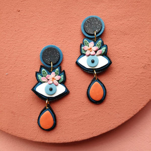 Daisy & Fern - Eyes On You Clay Earrings