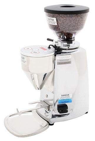 Mazzer Mini Electronic Doserless Espresso Grinder Type A - Polished Aluminum - My Espresso Store