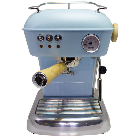 Ascaso Dream UP V3 - Baby Blue w/ WOOD Handle and Steam Knob - My Espresso Store