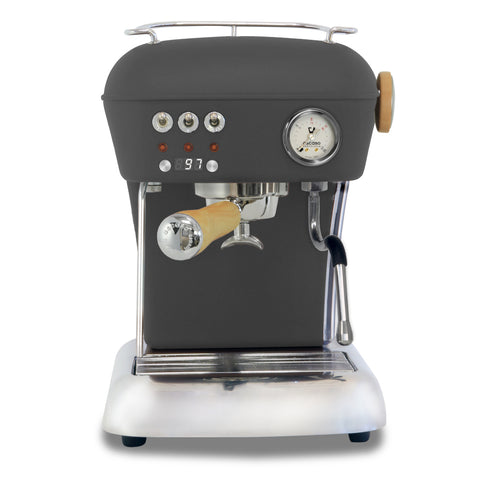 Ascaso Dream UP V3 PID Espresso Machine w/ Wood Handle & Steam Knob – ANTHRACITE
