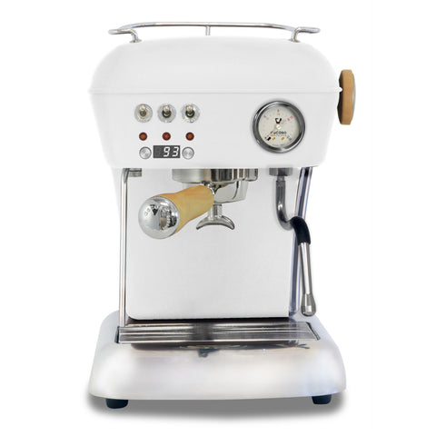 Ascaso Dream UP V3 PID Espresso Machine w/ Wood Handle & Steam Knob – CLOUD WHITE - My Espresso Store