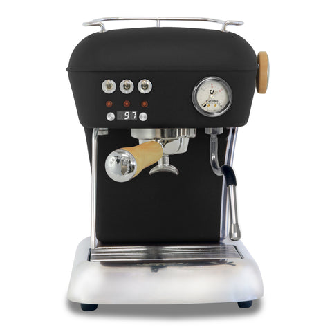 Ascaso Dream UP V3 PID Espresso Machine w/ Wood Handle & Steam knob – BLACK