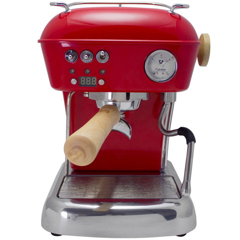 Ascaso Dream UP V3 PID w/ WOOD Handle and Steam Knob - Love Red
