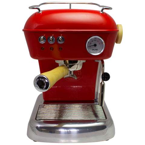 Ascaso Dream UP V3 - Love Red w/ WOOD Handle and Steam Knob - My Espresso Store